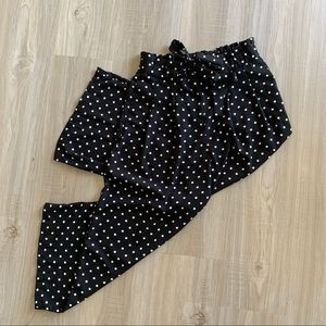 Polka Dot Crop Pants S